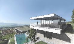 Grundstück mit Architekturstudie Variante 1 / Haus A und B